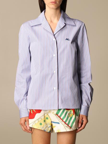 Etro women: Etro shirt in wadded cotton