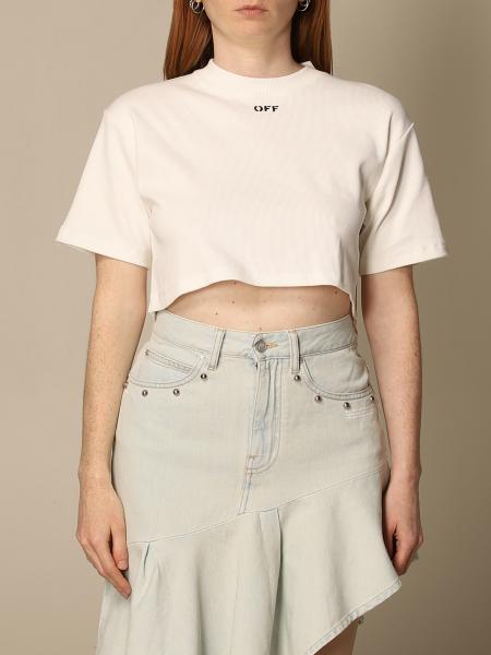 Off White: Basic Off White t-shirt with logo
