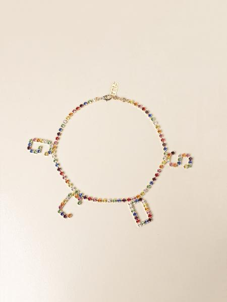 Gcds women: Gcds choker necklace with multicolor rhinestones