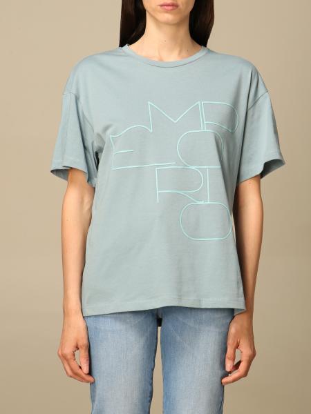 Emporio Armani women: Emporio Armani t-shirt with big logo