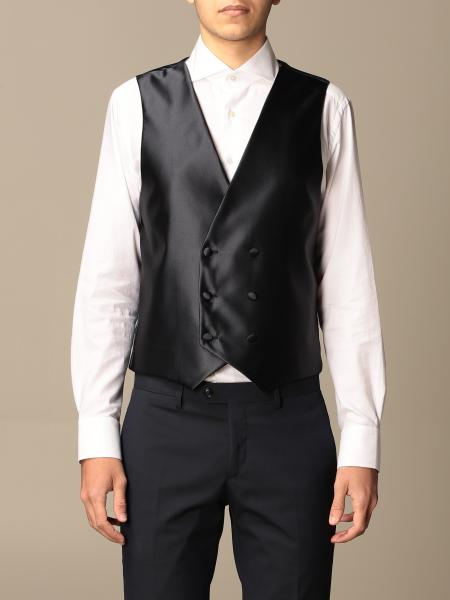 Alessandro Dell'acqua men: Alessandro Dell'acqua double-breasted waistcoat in satin