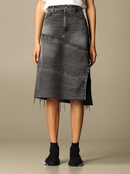 Balenciaga: Gonna di jeans Balenciaga in denim used