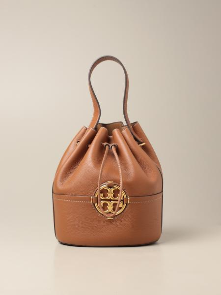Tory Burch: Miller Tory Burch bucket bag in grained leather