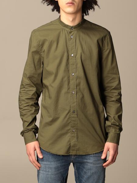 Dondup basic shirt with mandarin collar