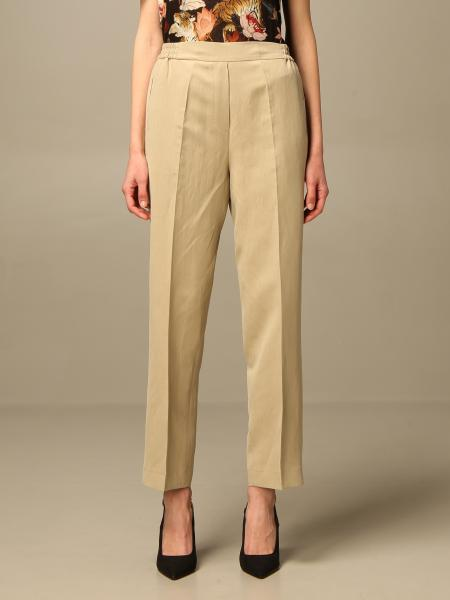 Etro women: Etro trousers in linen and silk blend