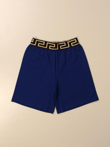 Versace Young jogging shorts with greek
