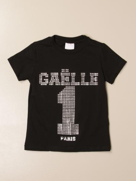 Gaëlle Paris t-shirt in cotton with big rhinestone logo
