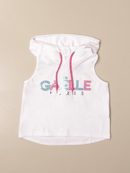 Gaëlle Paris hooded T-shirt with logo