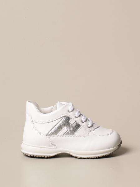 Interactive Hogan Baby sneakers in leather with glitter H