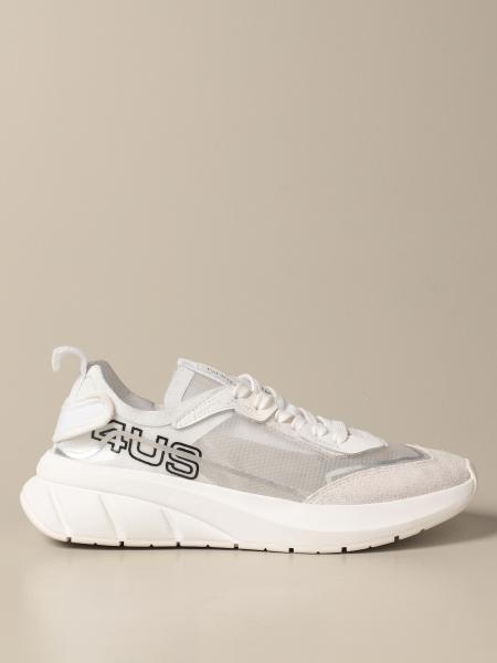 Paciotti 4Us: Sneakers Paciotti 4US in camoscio e tela trasparente