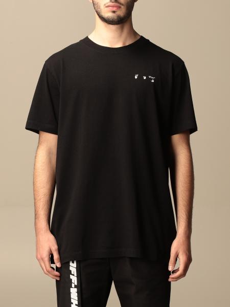 Off White cotton t-shirt with back logo