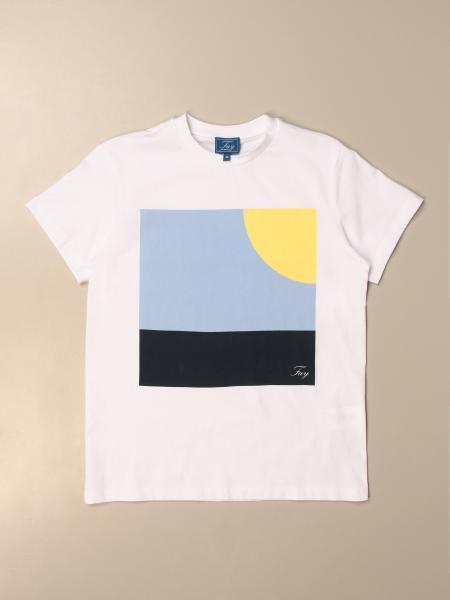 T-shirt Fay in cotone con stampa