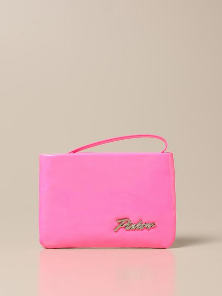 Pinko pochette in synthetic patent leather