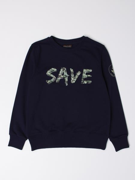 Felpa a girocollo Save The Duck con maxi logo