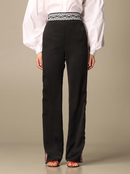 Pinko women: Pinko high-waisted pants with striped bands