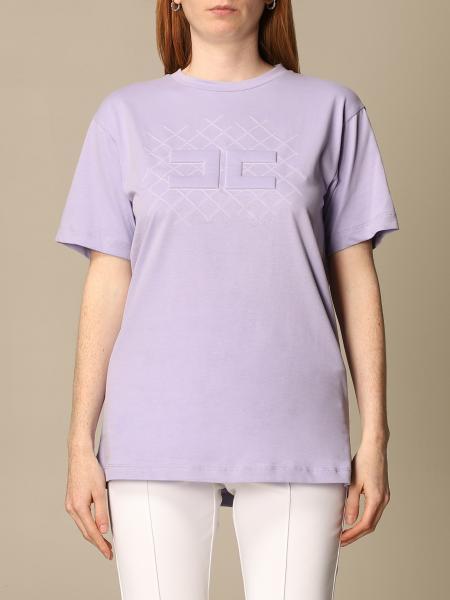 T-shirt Elisabetta Franchi in jersey di cotone con logo