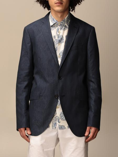 Etro single-breasted jacket in cotton