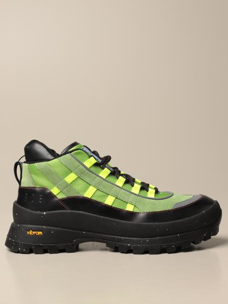 Mcq: Stivaletto hiking by McQ in pelle e tessuto