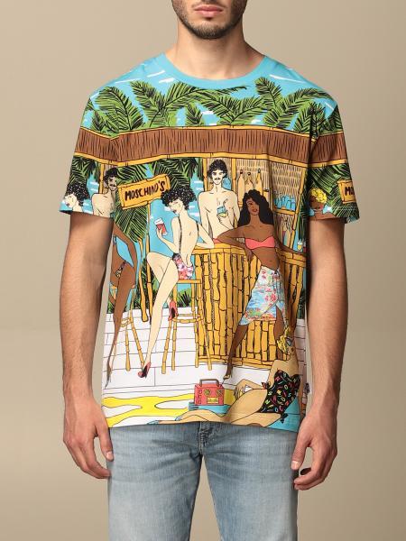 T-shirt Moschino Underwear in cotone stampato