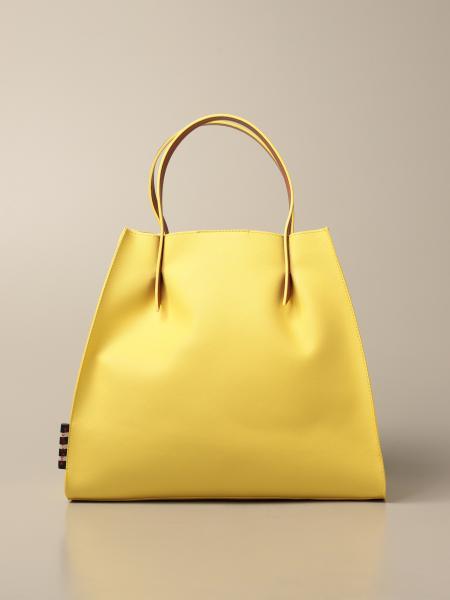 Manila Grace women: Doris Manila Grace handbag in synthetic saffiano leather