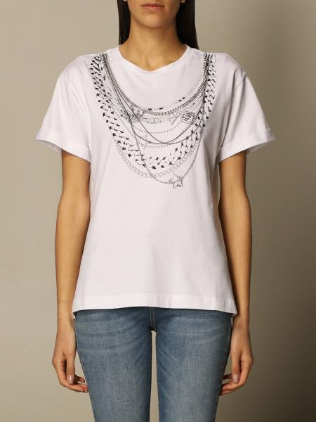 Twin Set Actitude: Twin-set Actitude T-shirt with necklaces print