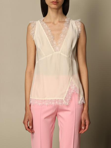 Pinko women: Pinko lingerie top in viscose and lace