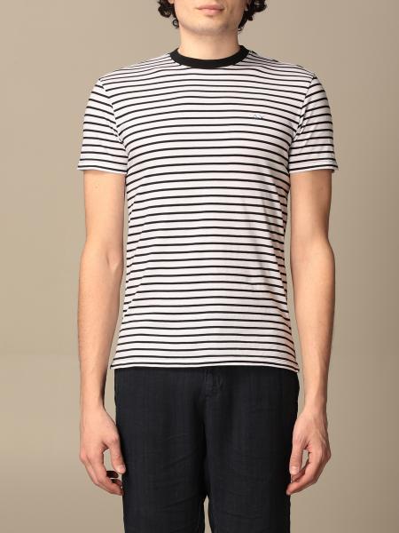 T-shirt a girocollo Sun 68 in cotone a righe