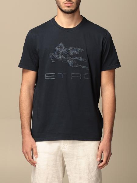 Etro cotton T-shirt with big Pegasus logo
