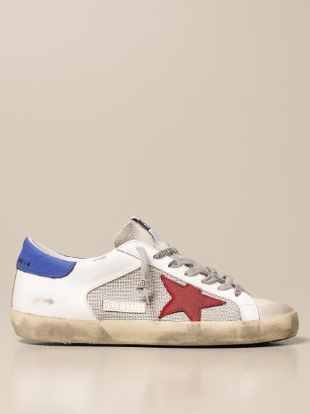 Golden Goose men: Superstar classic Golden Goose trainers in mesh and leather