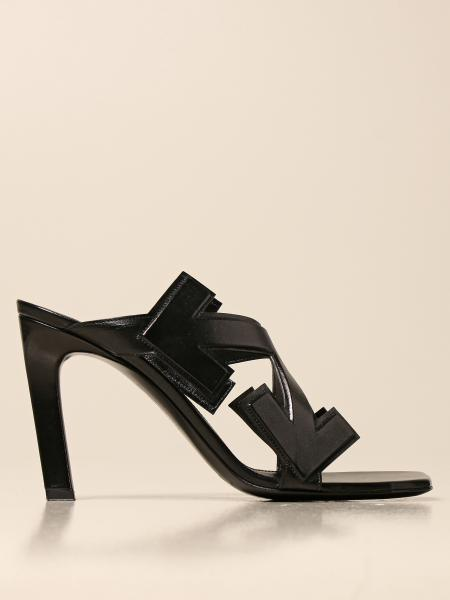 Off White leather sandals with arrows
