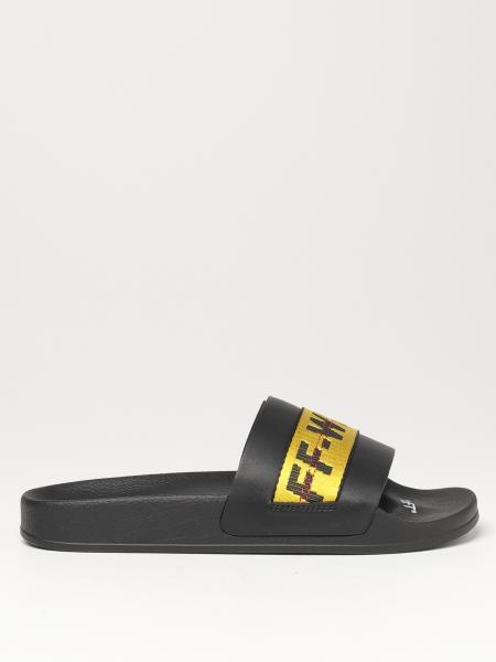 Industrial Off White slipper sandals in synthetic leather