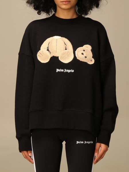 Palm Angels cotton sweatshirt with bear
