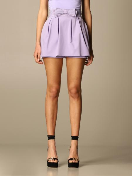 Elisabetta Franchi women: Elisabetta Franchi elegant shorts with bow