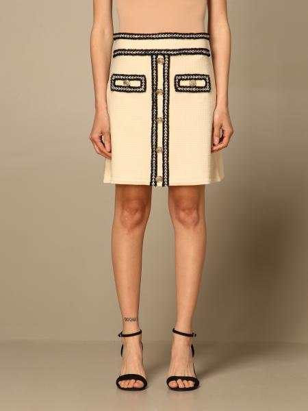Pinko women: Pinko short tweed skirt