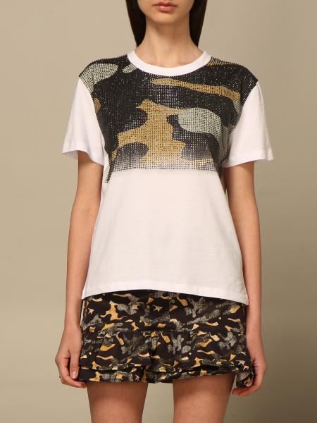 Patrizia Pepe women: Patrizia Pepe T-shirt with rhinestone camouflage detail