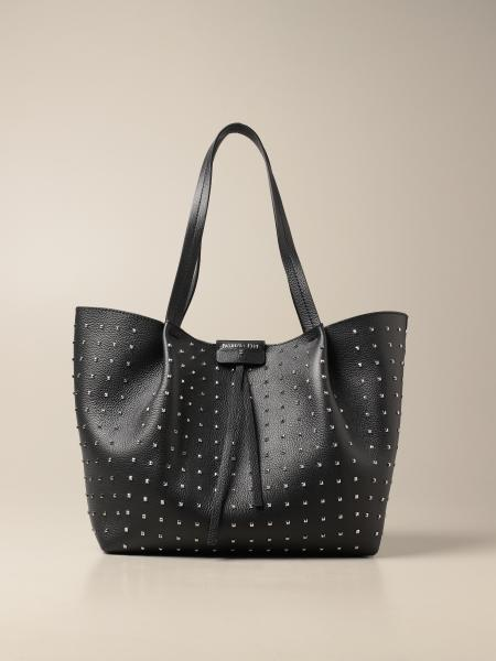 Patrizia Pepe shopping bag in perforated leather