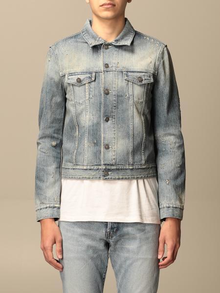 Saint Laurent men: Saint Laurent jacket in vintage denim