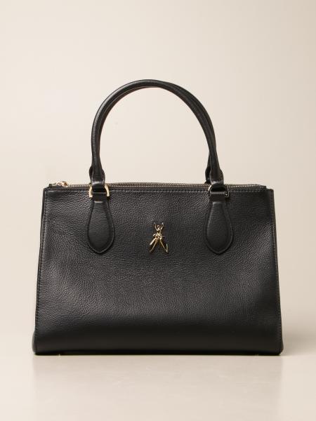 Patrizia Pepe women: Patrizia Pepe handbag in hammered leather with fly logo