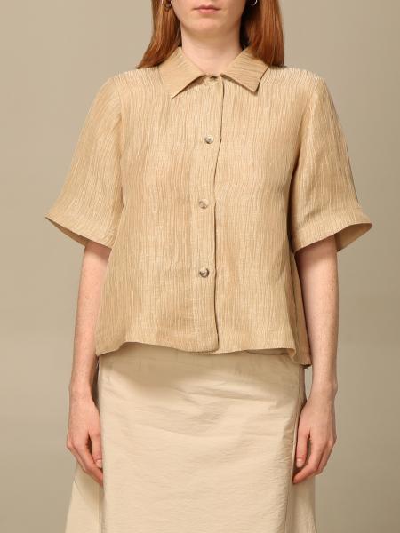 Emporio Armani women: Emporio Armani shirt in linen and silk