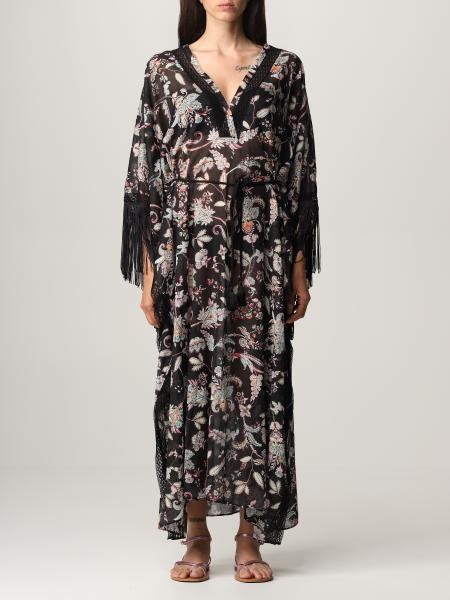 Twinset women: Twin-set long dress with paisley pattern