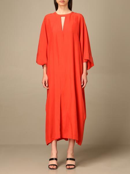 Twinset women: Twin-set caftan dress in silk habotai