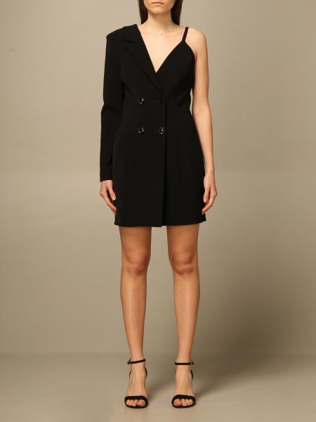Boutique Moschino: Boutique Moschino double-breasted asymmetrical dress