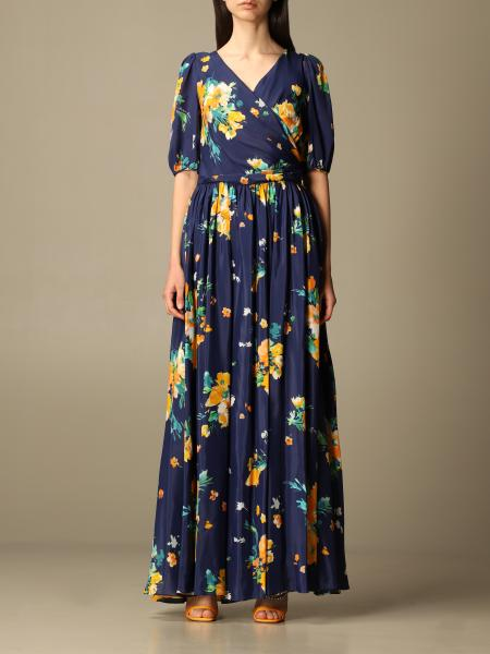 Boutique Moschino: Moschino Boutique long dress in patterned silk blend