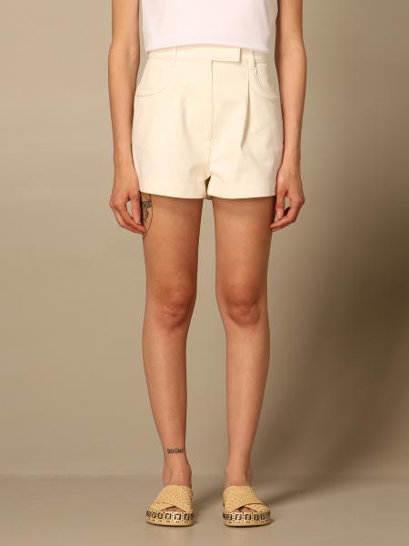 Fendi women: Fendi shorts in embossed denim