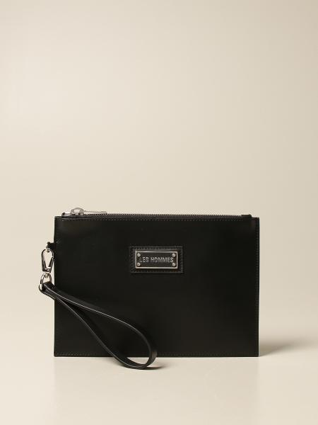 Les Hommes clutch bag in leather