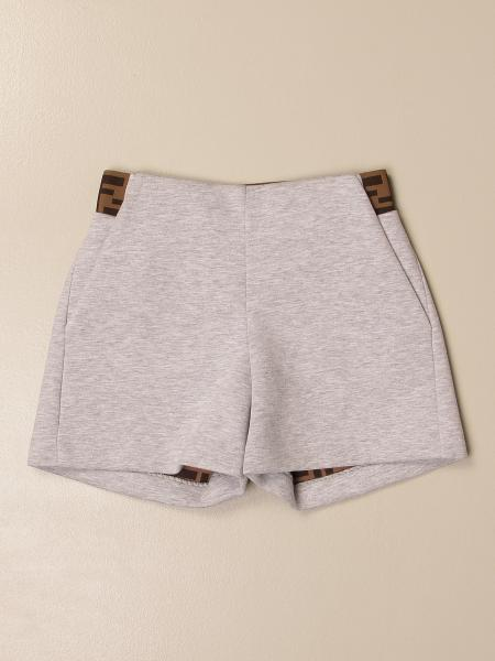 Pantaloncino Fendi in neoprene con fasce FF Fendi all over