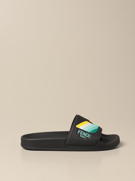 Fendi rubber sandal with eyes