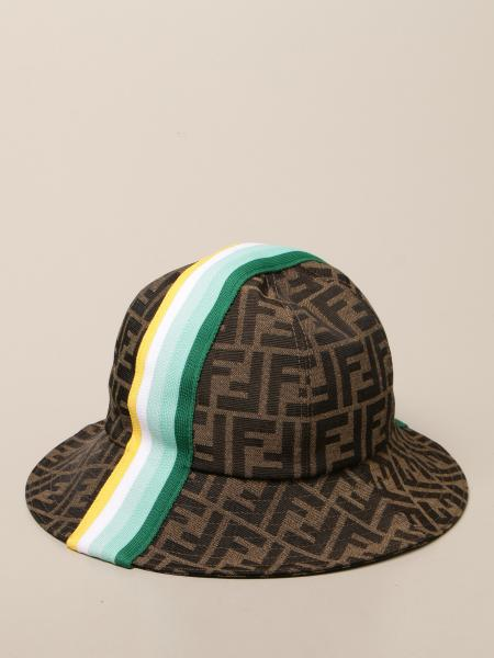 Fendi bucket hat with striped band