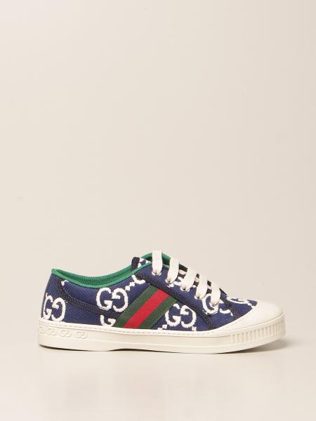 Gucci: Sneakers Gucci in tessuto GG con fasce Web