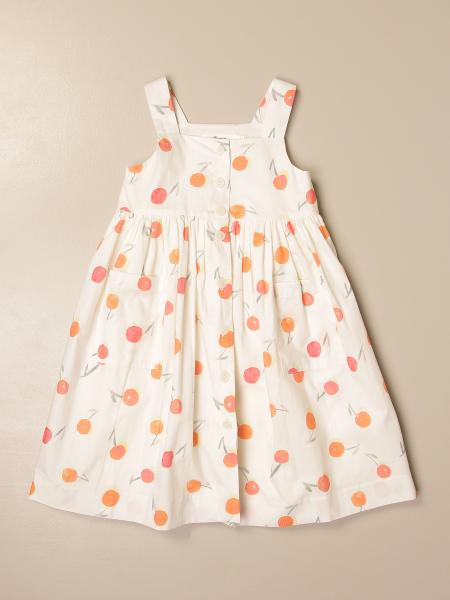 Bonpoint dress in patterned cotton